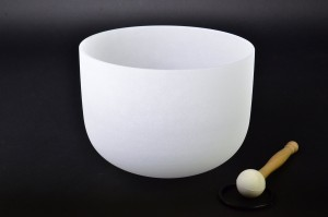 12 inch New Frosted D Sacral Chakra Quartz Crystal Singing Bowl Musical Instruments
