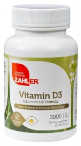 Zahler Vitamin D3 Cholecalciferol 2000IU All Natural Supplement Supporting Bone Muscle Teeth and Immune System Best Top Quality