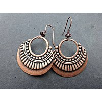 Copper metal plated hoops with copper ear wires