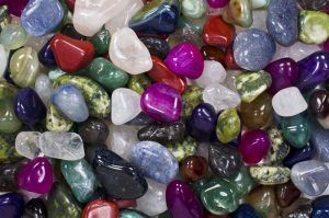 Fantasia Materials-3 lbs Premium Tumbled Stone Mix from Brazil - Natural and Dyed
