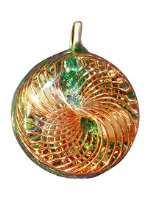 Orgone Copper Vortex Pendant - green