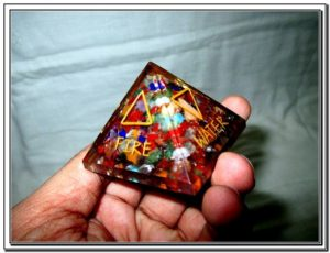 5 Elements Engraved Orgone Chakra Pyramid X-mas Crystal Gemstones Sacred Spiritual