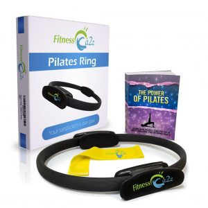 Pilates Ring - GREAT PACKAGE Includes- Fitness Magic Circle + Resistance Band + Ebook + 3 Years Guarantee