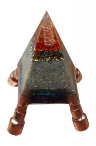 The Nubian Orgone Pyramid Blue Golden - home, water, food protection
