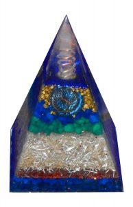 The Nubian Orgone Pyramid with Crystal Point Antenna