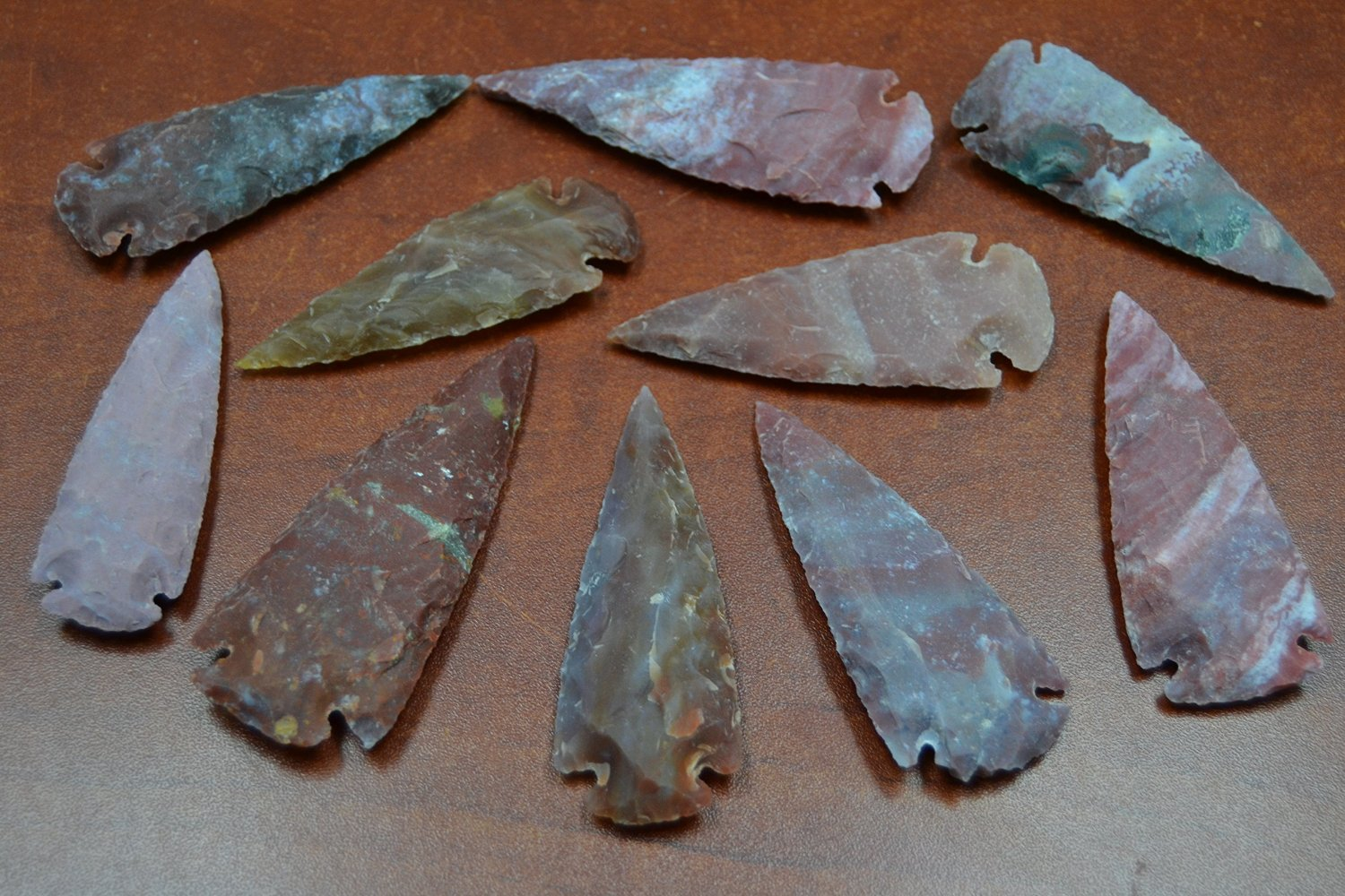 10 Pcs Red Agate Stone Spearhead Arrowhead Point
