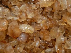 Fantasia Materials 1 lb Citrine Mine Run Rough from Brazil - Raw Natural Crystals for Cabbing, Cutting, Lapidary, Tumbling, Polishing, Wire Wrapping, Wicca and Reiki Crystal Healing Wholesale Lot