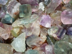 Fantasia Materials 1 lb Rainbow Fluorite Rough - Select 1 to 18 lbs - Raw Natural Crystals for Cabbing, Cutting, Lapidary, Tumbling, Polishing, Wire Wrapping, Wicca and Reiki Crystal Healing