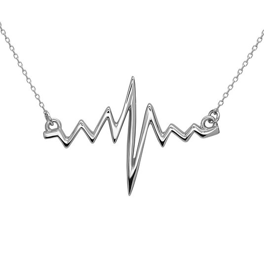 Heartbeat Necklace by Silver Phantom Jewelry