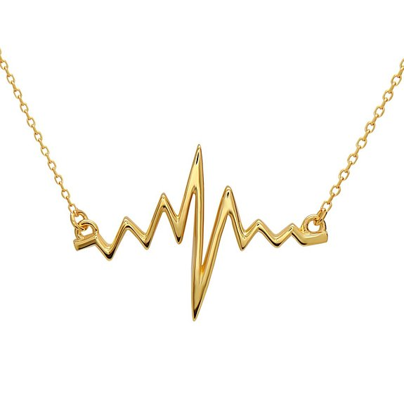Heartbeat Necklace by Silver Phantom