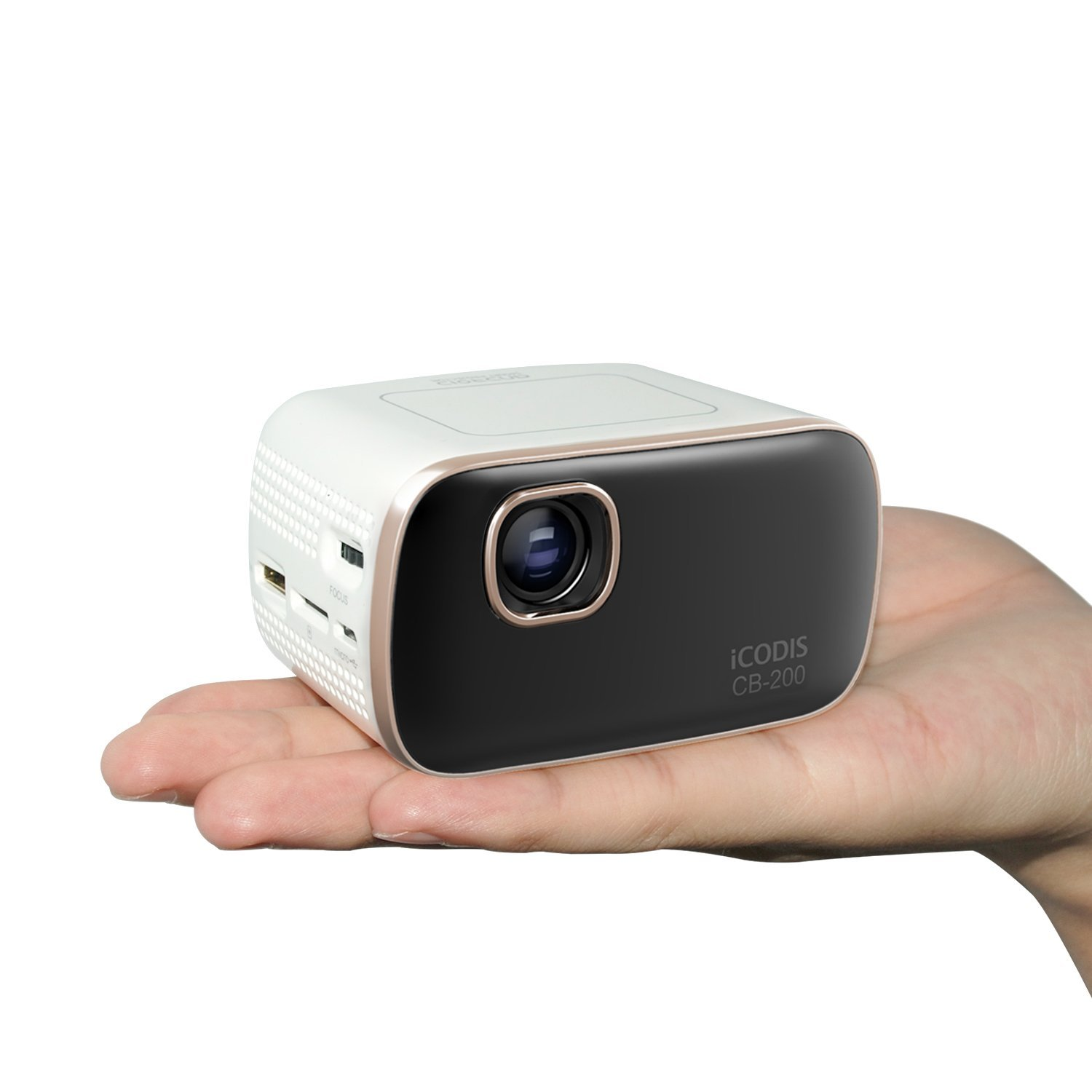 Icodis cb 200 pico mobile projector energy healing stone for Mini portable pocket projector