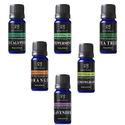 Aromatherapy Top 6 Essential Oils 100% Pure & Therapeutic grade - Basic Sampler Gift Set & Premium Kit