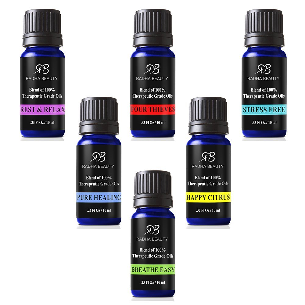 Essential Oil Blends for Aromatherapy - Best 6 blend set 100% Pure Therapeutic Grade