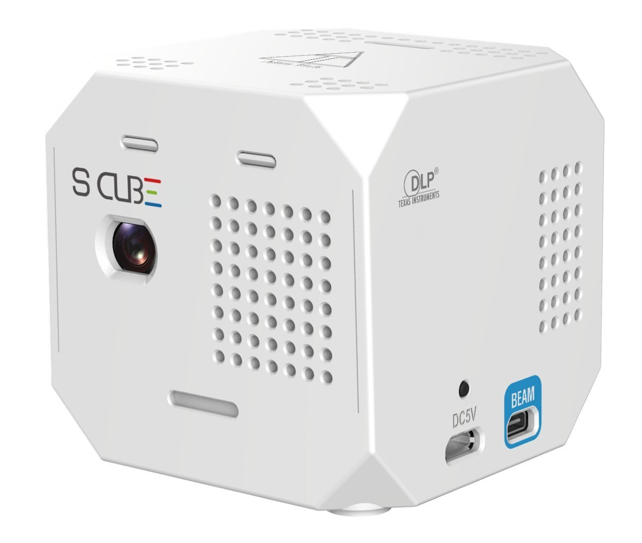 alientech-s-cube-fhd-hologram-projection-mapping-wifi-ready-1000-lumens-100-ansi-protection-cage-remote-mhl-hdmi-tripod-cradle-1080p-pico-projector-white